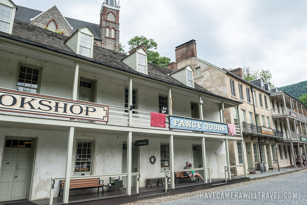 A museum street in Harpers Ferry, West Virginia.
