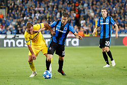 September 18, 2018 - Brugge, BELGIUM - Dortmund's Mario Gotze and Club's Matej Mitrovic fight for the ball during a game between Belgian soccer team Club Brugge KV and German club Borussia Dortmund, in Brugge, Tuesday 18 September 2018, day one of the UEFA Champions League, in group A. BELGA PHOTO KURT DESPLENTER (Credit Image: © Kurt Desplenter/Belga via ZUMA Press)
