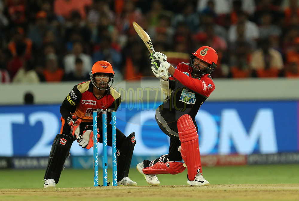 Parthiv Patel of Royal Challengers Bangalore during match thirty nine of the Vivo Indian Premier League 2018 (IPL 2018) between the Sunrisers Hyderabad and the Royal Challengers Bangalore held at the Rajiv Gandhi International Cricket Stadium in Hyderabad on the 7th May 2018.<br /> <br /> Photo by: Prashant Bhoot /SPORTZPICS for BCCI