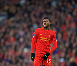 LIVERPOOL, ENGLAND - Saturday, January 7, 2017: Liverpool's Daniel Sturridge looks dejected after missing a chance against Plymouth Argyle during the FA Cup 3rd Round match at Anfield. (Pic by David Rawcliffe/Propaganda)