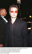 Brad Pitt at the Vanity Fair Oscar  night party, Mortons, Los Angeles. 23 March 1988. Film 98176f19<br />Copyright Photograph by Dafydd Jones<br />66 Stockwell Park Rd. London SW9 0DA<br />Tel. 0171 733 0108