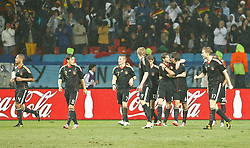 10.07.2010, Nelson-Mandela-Bay-Stadion, Port Elizabeth, RSA, FIFA WM 2010, Spiel um Platz Drei, Uruguay (URU) vs Deutschland (GER) im Bild deutscher Jubel, EXPA Pictures © 2010, PhotoCredit: EXPA/ nordphoto/ Kokenge / SPORTIDA photo agency
