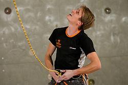 20-11-2011 KLIMSPORT: IFSC WORLD CUP CLIMBING: KRANJ<br /> Jorg Verhoeven of Netherlands during men final in Arena Zlato Polje, Kranj, Slovenia<br /> ©2011-FotoHoogendoorn.nl/Vid Ponikvar