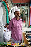 Vendor at Dargah shrine.