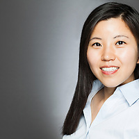 Professional headshot of a real estate agent in studio photographed by headshot photographer KMS Photography