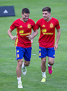 Hector Bellerin trains with Cesar Azpilicueta at Aktivpark Montafon Stadion, Schruns<br /> Picture by EXPA Pictures/Focus Images Ltd 07814482222<br /> 28/05/2016<br /> ***UK &amp; IRELAND ONLY***<br /> EXPA-RIN-160527-5075.jpg