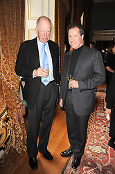 Left to right, LORD ROTHSCHILD and VISCOUNT LINLEY at a party to celebrate the 250th anniversary of the Colnaghi Gallery held at Spencer House, London on 1st July 2010.