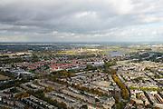 Nederland, Zuid-Holland, Rotterdam, 23-10-2013; Bergpolder gezien naar Hillegersberg <br /> North Rotterdam. residential area.<br /> luchtfoto (toeslag op standaard tarieven);<br /> aerial photo (additional fee required);<br /> copyright foto/photo Siebe Swart.