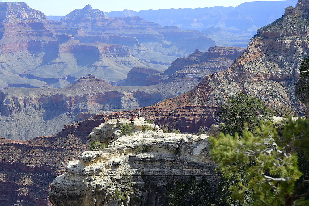 People in Grand Canyon National Park, Arizona, United States.