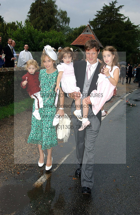 ZAC GOLDSMITH, his wife SHEHERAZADE and their children at the wedding of Tom Parker Bowles to Sara Buys at St.Nicholas Church, Rotherfield Greys, Oxfordshire on 10th September 2005.<br /><br />NON EXCLUSIVE - WORLD RIGHTS