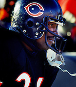 Walter Payton cries after playing his last game in 1989.  He died in 1999.