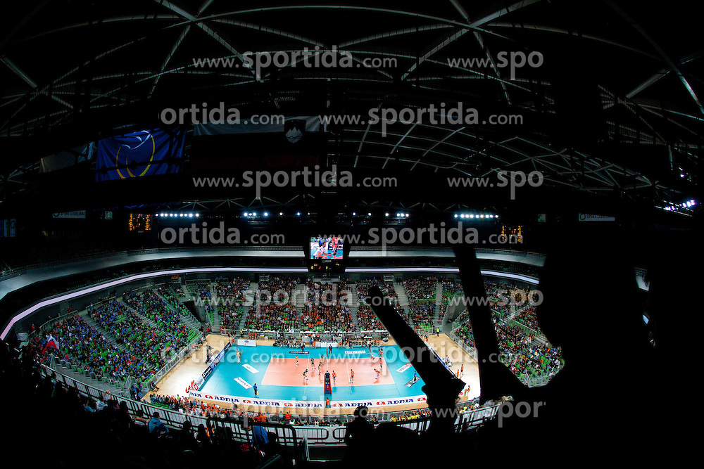 Arena Stozice during volleyball match between ACH Volley LJUBLJANA and  PGE Skra Belchatow (POL) of 2012 CEV Volleyball Champions League, Men, League Round in Pool F, 4th Leg, on December 20, 2011, in Arena Stozice, Ljubljana, Slovenia. Belchatow defeated ACH 3-0. (Photo By Vid Ponikvar / Sportida.com)