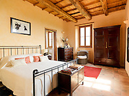 Villa San Donato in Italy, on the border between Tuscany and Lazio. The master bedroom.