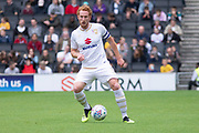 Dean Lewington (3) on the ball during the EFL Sky Bet League 1 match between Milton Keynes Dons and Burton Albion at stadium:mk, Milton Keynes, England on 5 October 2019.