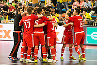 Benfica's players celebrating the victory during UEFA Futsal Cup 2015/2016 3º/4º place match. April 22,2016. (ALTERPHOTOS/Acero)