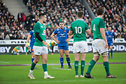 Guilhem Guirado (FRA), Jonathan Sexton (IRL), Iain Henderson (IRL), Conor Murray (IRL) during the NatWest 6 Nations 2018 rugby union match between France and Ireland on February 3, 2018 at Stade de France in Saint-Denis, France - Photo Stephane Allaman / ProSportsImages / DPPI