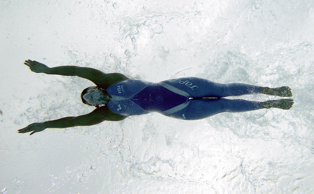 Japan's Yano Yurie swims in the semi-final of the women's 200m Butterfly at the FINA World Championships in Montreal, Canada Wednesday 27 July, 2005.