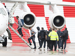 Juan Mata, Ashley Young and Ander Herrera as the Manchester United team fly to Wales on Tuesday morning for their Carabao Cup match against Swansea City
