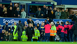 LIVERPOOL, ENGLAND - Sunday, March 3, 2019: Everton supporters react as a ball-boy claps towards manager Jürgen Klopp after the FA Premier League match between Everton FC and Liverpool FC, the 233rd Merseyside Derby, at Goodison Park. The game ended 0-0. (Pic by Paul Greenwood/Propaganda)