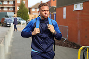 AFC Wimbledon attacker Julien Lamy (17) arriving for the game during the EFL Sky Bet League 1 match between AFC Wimbledon and Blackpool at the Cherry Red Records Stadium, Kingston, England on 22 February 2020.