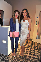 Left to right, CAROLINE FLACK and MYLEENE KLASS at the NatWest UK Fashion & Textile Awards in aid of Save The Children held at 1 Mayfair, London on 23rd May 2013.