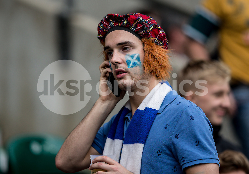 A Scotland fan during the Rugby World Cup Quarter Final match between Australia and Scotland played at Twickenham Stadium, London on the 18th of October 2015. Photo by Liam McAvoy.