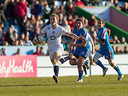 Hannah Gallagher in action, England Women v Italy Women in Women's 6 Nations Match at Twickenham Stoop, Twickenham, England, on 15th February 2015. Final score 39-7.
