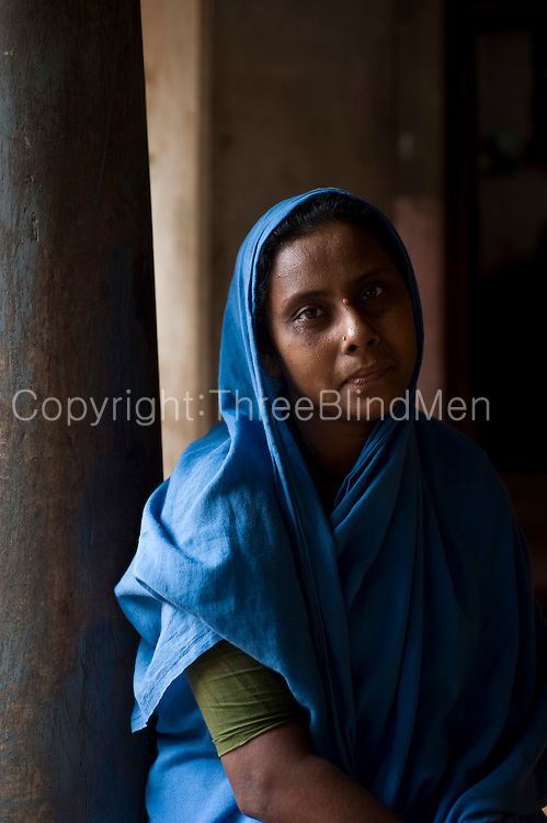 Muslim woman at home in Nagore. South India.