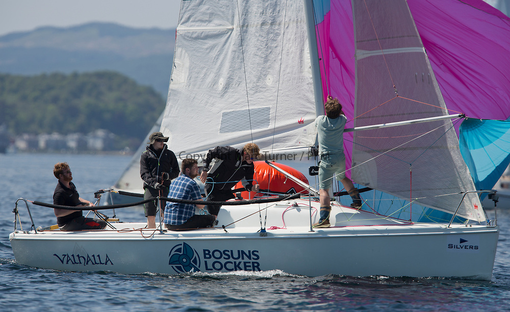 Silvers Marine Scottish Series 2017<br /> Tarbert Loch Fyne - Sailing<br /> <br /> GBR7003N, Valhalla, Andrew lawrie, PEYC