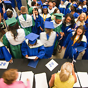 060211 Newark DE: St.Georges Tech HS students gather in the docks to pick up there diplomas after St. Georges Tech HS graduation ceremony Thursday, June 2, 2011, at The Bob Carpenter Center in Newark Delaware.<br /> <br /> Special to The News Journal/SAQUAN STIMPSON