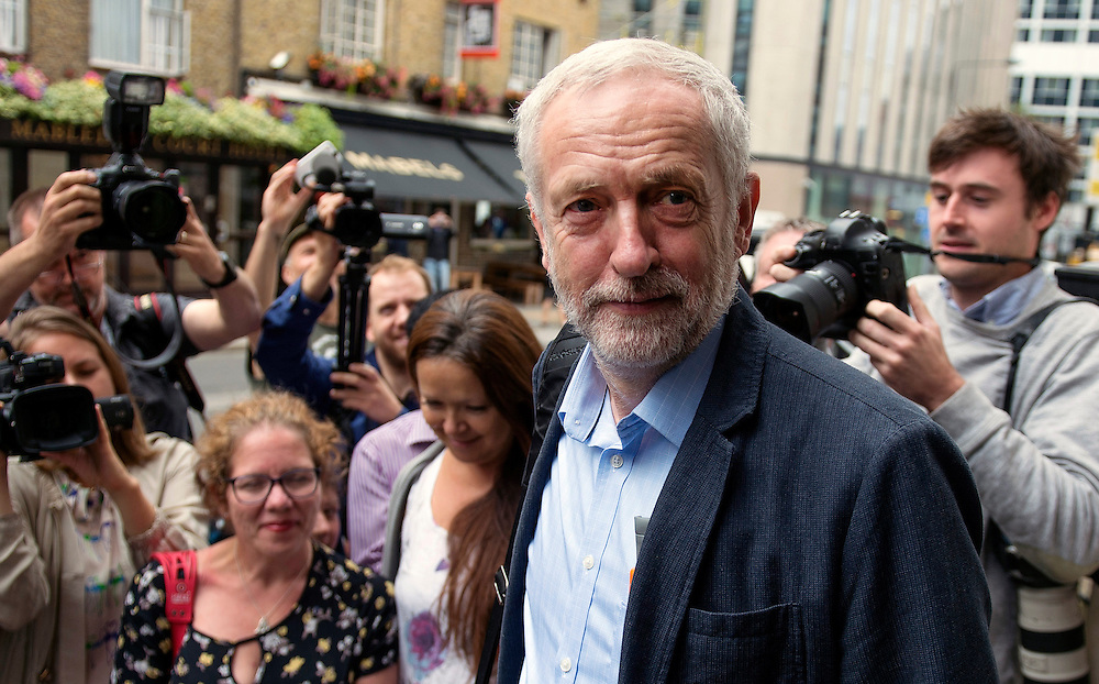 Labour Leader Jeremy Corbyn arrives at NUT Hamilton House, to receive the endoresment of the CWU Union in Central London, Britain, 1 August 2016. Jeremy Corbyn is competing in Labour Leadership contest against Owen Smith MP. EPA/WILL OLIVER