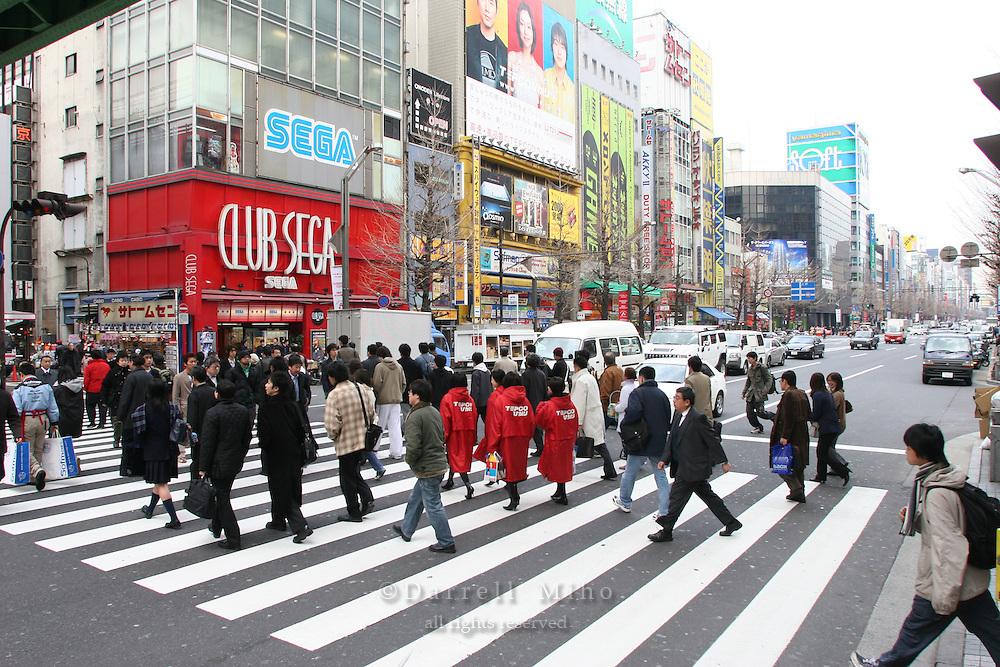 Mar 3, 2006; Tokyo, JPN; Akihabara.Intersection near Akihibara Station..Photo Credit: Darrell Miho .Copyright © 2006 Darrell Miho .