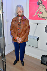 GAYLE HUNNICUTT at a private view of an exhibition entitled 'All Shook Up' - by Natasha Archdale: A Retrospective held at 90 Piccadilly, London on 23rd April 2015.