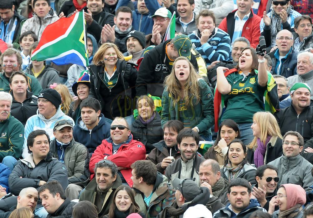 RUGBY CHAMPIONSHIP 2012 - .LOS PUMAS (Argentina) 16 Vs. South Africa (16).Estadio Ciudad de Mendoza / Mendoza - Argentina - August 25, 2012.Here South African fans / supporters.© PikoPress