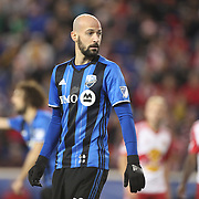 HARRISON, NEW JERSEY- November 06:  Laurent Ciman #23 of Montreal Impact during the New York Red Bulls Vs Montreal Impact MLS playoff match at Red Bull Arena, Harrison, New Jersey on November 06, 2016 in Harrison, New Jersey. (Photo by Tim Clayton/Corbis via Getty Images)