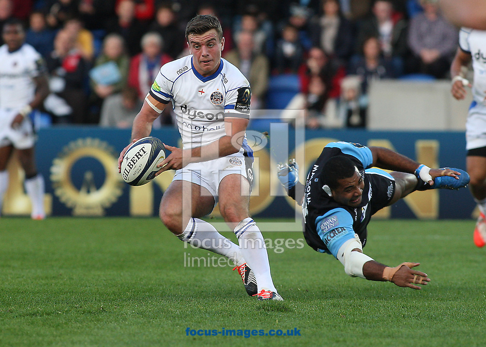 George Ford of Bath Rugby during the European Rugby Champions Cup match at Scotstoun Stadium, Glasgow<br /> Picture by Ian Buchan/Focus Images Ltd +44 7895 982640<br /> 18/10/2014