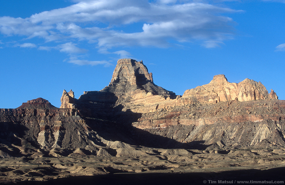 A sandstone peak in Utah's San Rafael Swell.