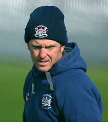 Gloucestershire's Coach Ian Harvey - Photo mandatory by-line: Harry Trump/JMP - Mobile: 07966 386802 - 30/03/15 - SPORT - CRICKET - Pre Season Fixture - T20 - Somerset v Gloucestershire - The County Ground, Somerset, England.