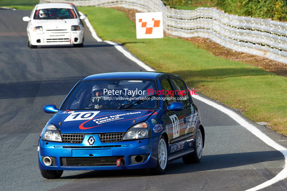 #10 Mark Wallwork / Craig Lawton Renault Clio 172 Cup during CSCC Tin Tops with MS Society - Qualifying as part of the Classic Sports Car Club  at Oulton Park, Little Budworth, Cheshire, United Kingdom. September 26 2015. World Copyright Taylor/PSP. Copy of publication required for printed pictures.  Every used picture is fee-liable. http://archive.petertaylor-photographic.co.uk