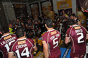 July 6th 2011: Maroons celebarte in the sheds after game 3 of the 2011 State of Origin series at Suncorp Stadium in Brisbane, QLD, Australia on July 6, 2011. Photo by Matt Roberts / mattrimages.com.au / QRL