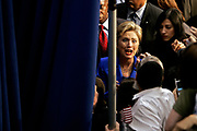 Presidential hopeful Hillary Clinton is holding her victory speech at the Baruch College after winning South Dakota, applauding Obama for Montana but not yet conceding.<br /> <br /> A final comment before leaving behind the curtain.