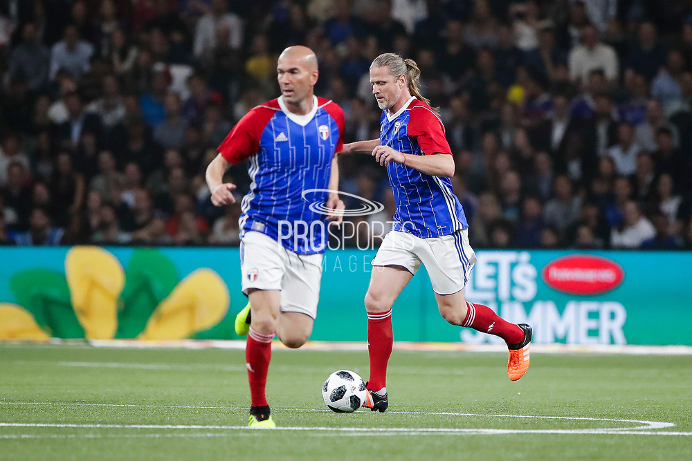 Zinedine Zidane (France 98), Emmanuel Petit (France 98) during the 2018 Friendly Game football match between France 98 and FIFA 98 on June 12, 2018 at U Arena in Nanterre near Paris, France - Photo Stephane Allaman / ProSportsImages / DPPI