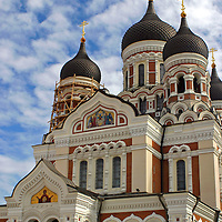 Europe, Estonia,Tallinn. Alexander Nevsky Cathedral in the old city of Tallinn, a UNESCO World Heritage Site.
