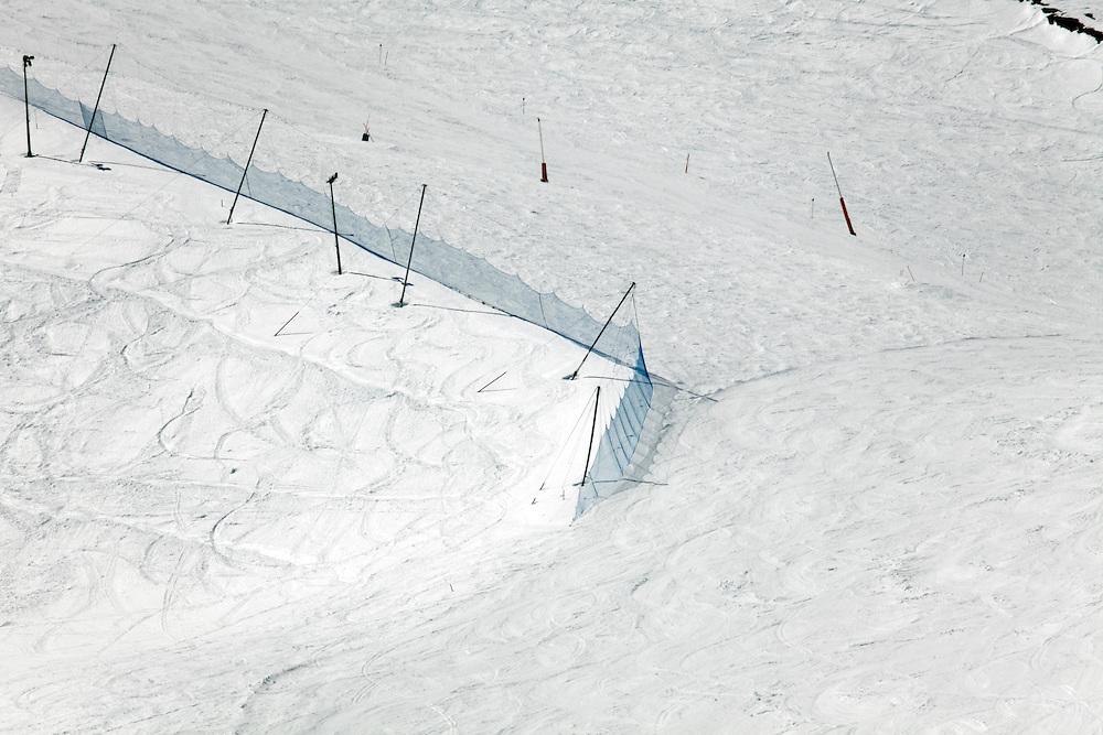 safety net on ski piste