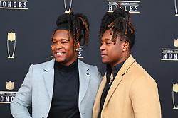 February 2, 2019 - Atlanta, GA, U.S. - ATLANTA, GA - FEBRUARY 02:  Shaquem Griffin and his brother Shaquill Griffin  pose for photos on the red carpet at the NFL Honors on February 2, 2019 at the Fox Theatre in Atlanta, GA. (Photo by Rich Graessle/Icon Sportswire) (Credit Image: © Rich Graessle/Icon SMI via ZUMA Press)