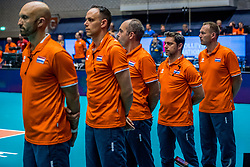 06-06-2018 NED: Volleyball Nations League Netherlands - Italy, Rotterdam<br /> Italy wins with 3-2 / Dutch staff