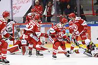2020-03-06   Ljungby, Sverige: Bodens HF (28) Marcus Sandström skjuter 0-2 under matchen i Hockeyettan mellan IF Troja/Ljungby och Bodens HF i Ljungby Arena ( Foto av: Fredrik Sten   Swe Press Photo )<br /> <br /> Nyckelord: Ljungby, Ishockey, Hockeyettan, Ljungby Arena, IF Troja/Ljungby, Bodens HF, fstb200306, playoff, kval