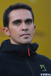 October 28, 2017 - Shanghai, China - Alberto CONTADOR (SPA) from Trek–Segafredo team, during the 1st TDF Shanghai Criterium 2017 - Media Day..On Saturday, 28 October 2017, in Shanghai, China. (Credit Image: © Artur Widak/NurPhoto via ZUMA Press)