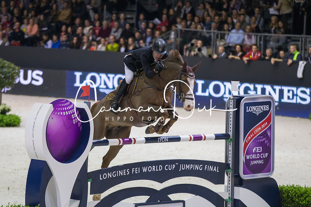 Whitaker Michael (GBR) - Viking<br /> Longines FEI World Cup&trade; Jumping Final 2013/2014<br /> Lyon 2014<br /> &copy; Dirk Caremans