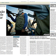 "Tearsheet of ""Syria: the kurdish revolution"" published in Expresso"
